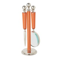 Nadine Magnifying Glass and  Letter Opener with Stand - Large, Orange