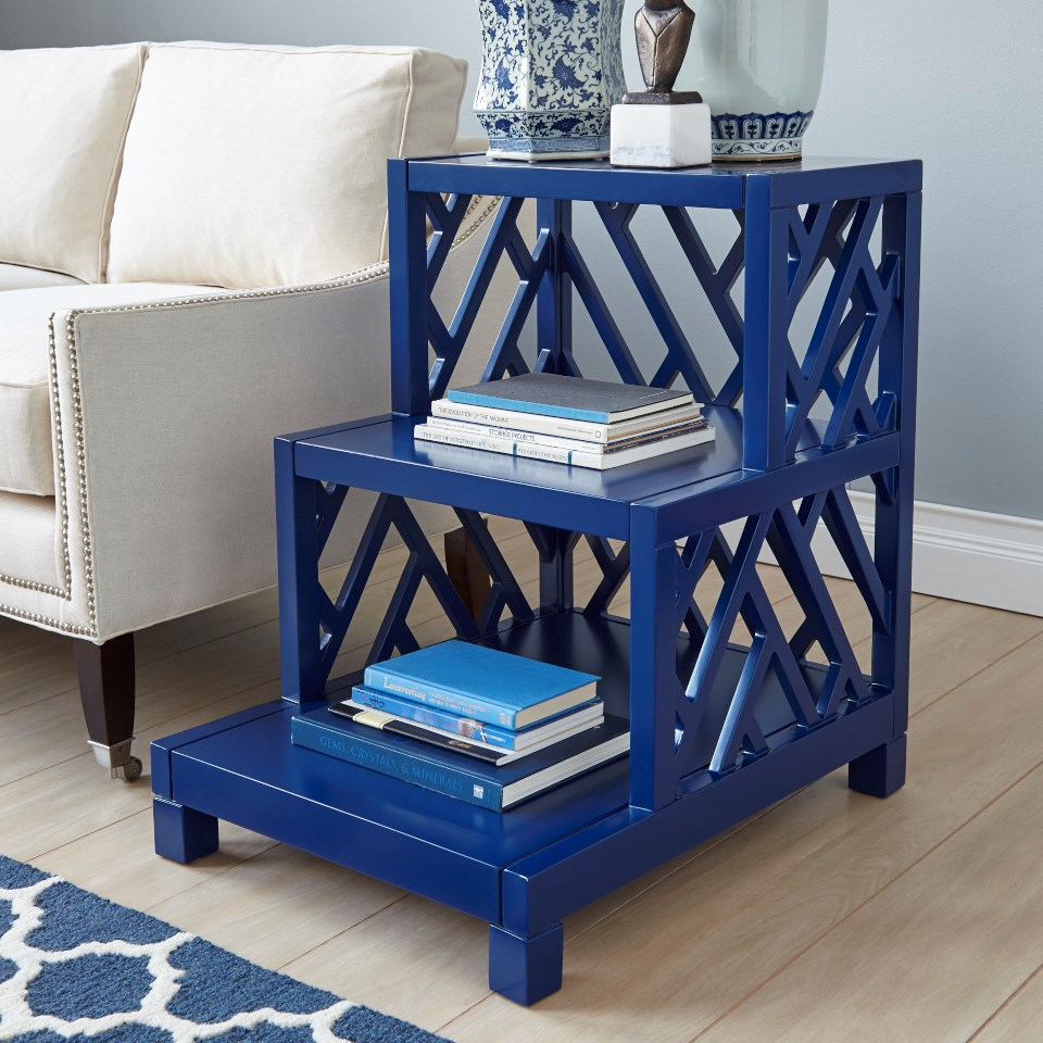 NANTUCKET SIDE TABLE   BLUE, NAVY BLUE