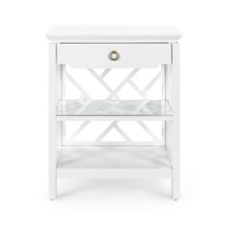 'Nantucket 1-Drawer Side Table, White