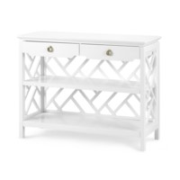 Nantucket Console Table, White