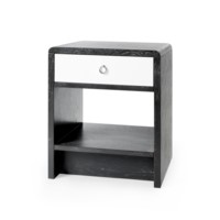 Nicole 1-Drawer  Side  Table, Gray