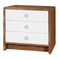 Niagara  3-Drawer Side Table, Medium Brown