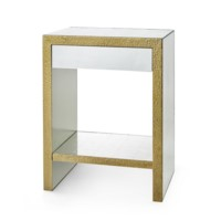Odeon 1-Drawer Side Table, Champagne Bronze