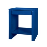 Odom 1-Drawer Side  Table, Navy Blue