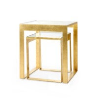 Plano Side  Table, Gold