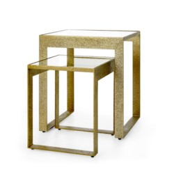 'Plano Side Table, Champagne Bronze