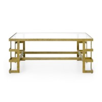 Plano Coffee Table, Champagne Bronze