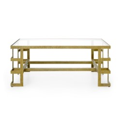 'Plano Coffee Table, Champagne Bronze