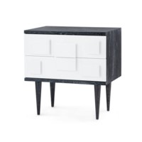 Ponti 2-Drawer Side Table, Black