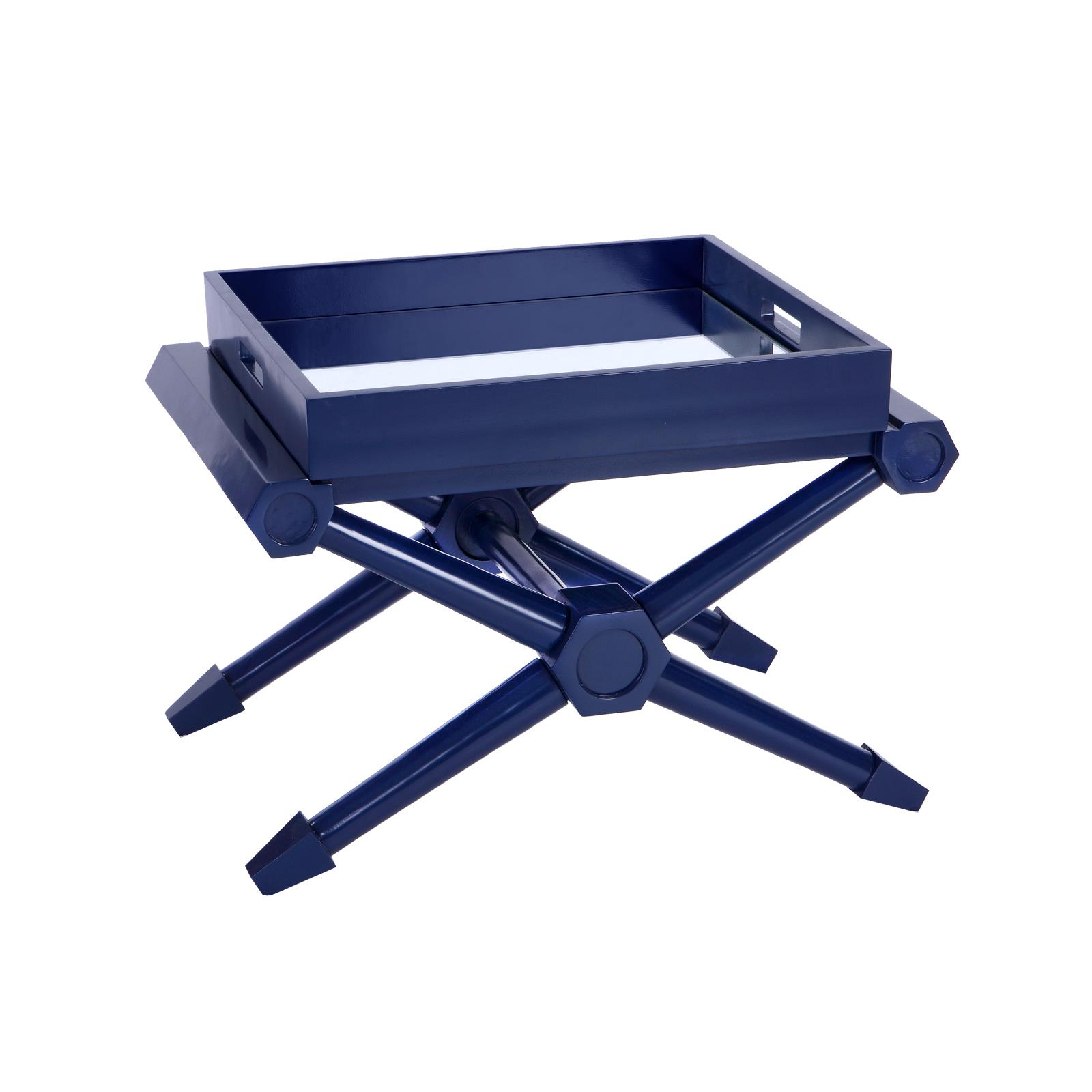 Pierre Tray Table Navy Blue
