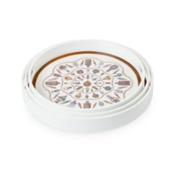 Perfume Round Nesting Trays, White