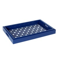 Sasoon Rectangle Nesting Trays, Navy Blue, Black, White