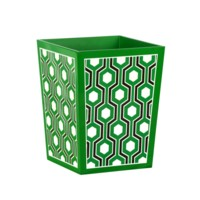 Sasoon  Waste Bin, Kelly Green, Black, White