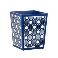 Sasoon Waste Bin, Navy Blue-Black-White