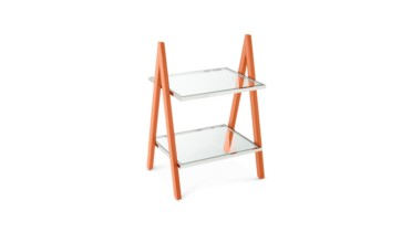 Sheldon Side Table, Orange