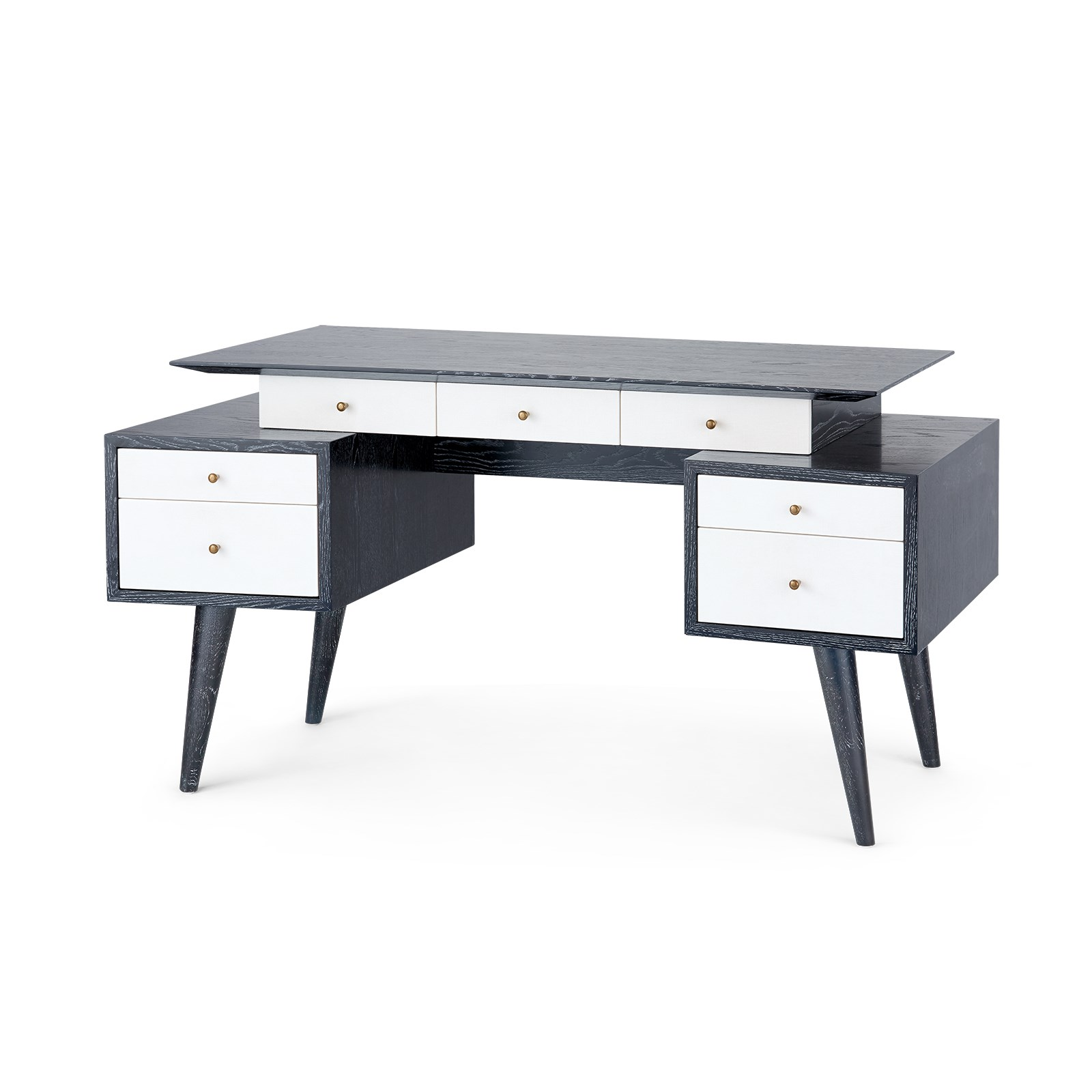 Serena desk black bungalow 5 for Bungalow 5 desk