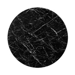 """'Stockholm 52"""" Nero Dining Table Top (Base sold separately), Black"""