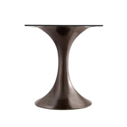 """'Stockholm Bronze Dining Table Base (Pairs with 52"""" & 60"""" Top, Sold Separately), Bronze"""