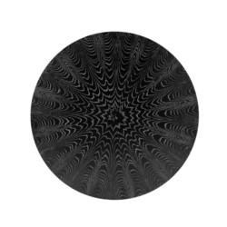 """'Stockholm 60"""" Black Cerused Oak Dining Table Top (Base sold separately), Black"""