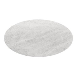 """'Stockholm 79"""" Carrera Small Oval Dining Table Top (Base sold separately), White"""