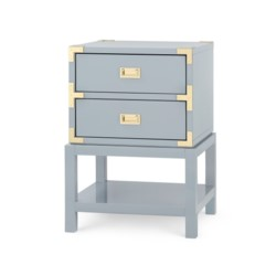 'Tansu 2-Drawer Side Table, Gray