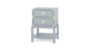 Tansu 2-Drawer Side Table, Gray