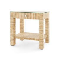 Valentina Papyrus 1-Drawer Side Table, Natural