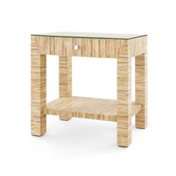 'Valentina Papyrus 1-Drawer Side Table, Natural