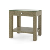 Valentina Marled 1-Drawer Side Table, Slate Gray