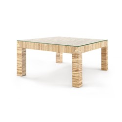 'Valentina Papyrus Coffee Table, Natural