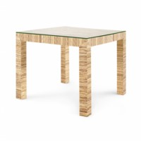 Valentina Papyrus Game Table, Natural