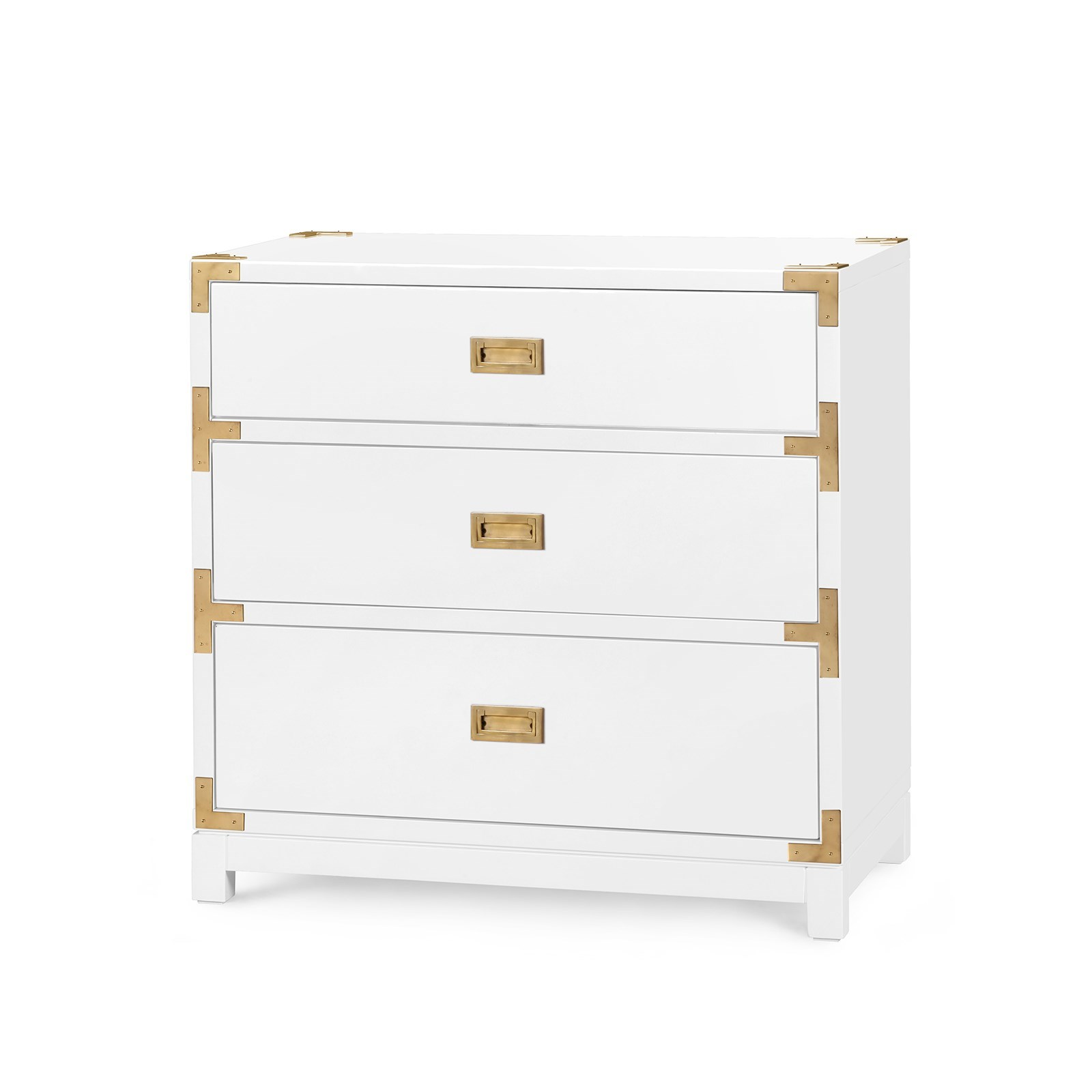 Victoria 3 Drawer Side Table, White