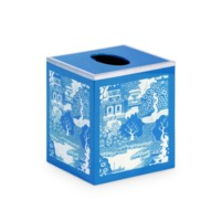 Xanadu Tissue Box, Blue
