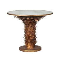 Athena Center/Dining Table, Gold