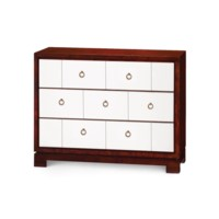 Berkeley 3-Drawer Brickfront w/ Bronze Pulls, Golden Mahogany