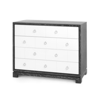 Berkeley Large 4-Drawer Brickfront w/ Chrome Pulls, Gray