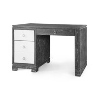 Brooke Desk  w/ Chrome Pulls, Gray