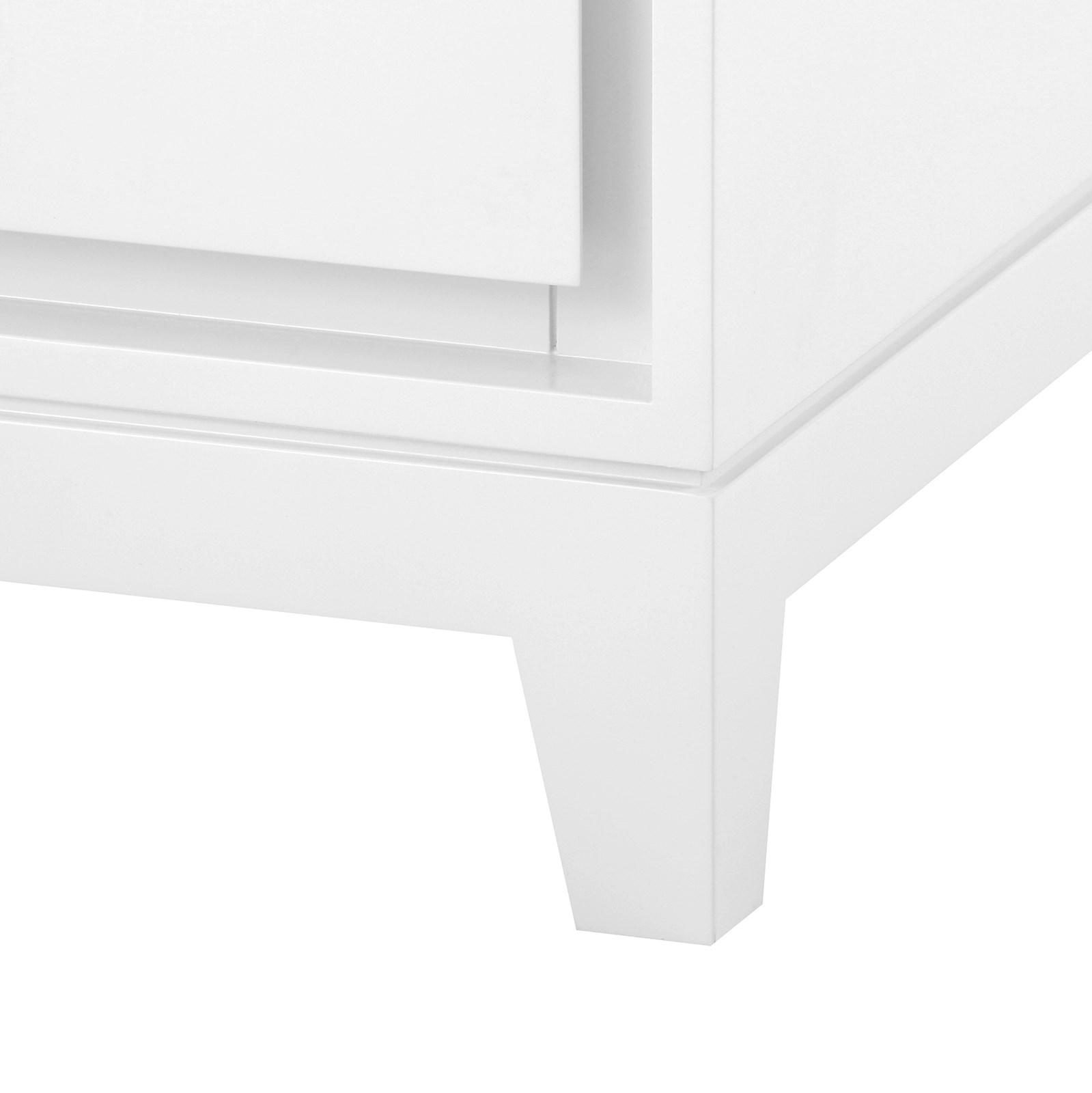 Bergamo 3 drawer side table white bungalow 5 bergamo 3 drawer side table white geotapseo Choice Image