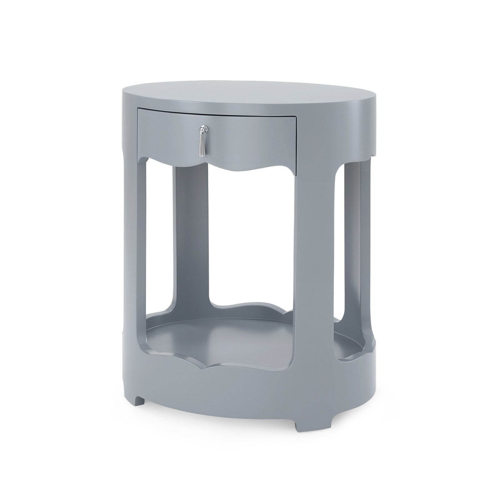 brigitte 1 drawer side table gray bungalow 5 bungalow 5 white lacquered