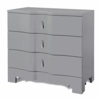 Brigitte 3-Drawer Side  Table, Gray