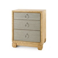 Calvin 3-Drawer  Side Table, Sage Green