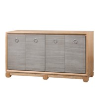Arthur 4-Door Cabinet, Sage Green