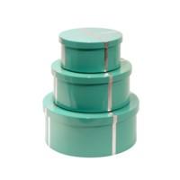 Chiffany  Round Nesting Boxes, Turquoise