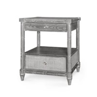 Florence 2-Drawer Side Table, Gray