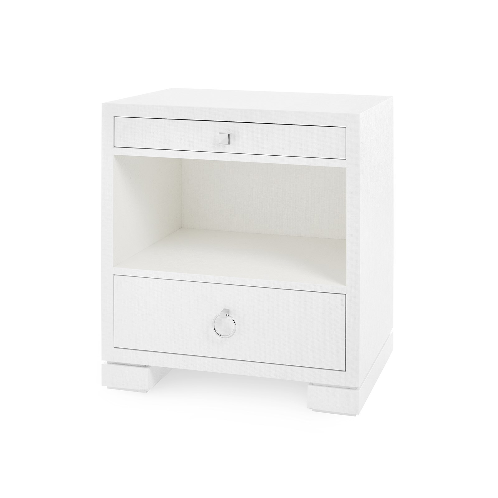 Frances 2 Drawer Side Table White Bungalow 5