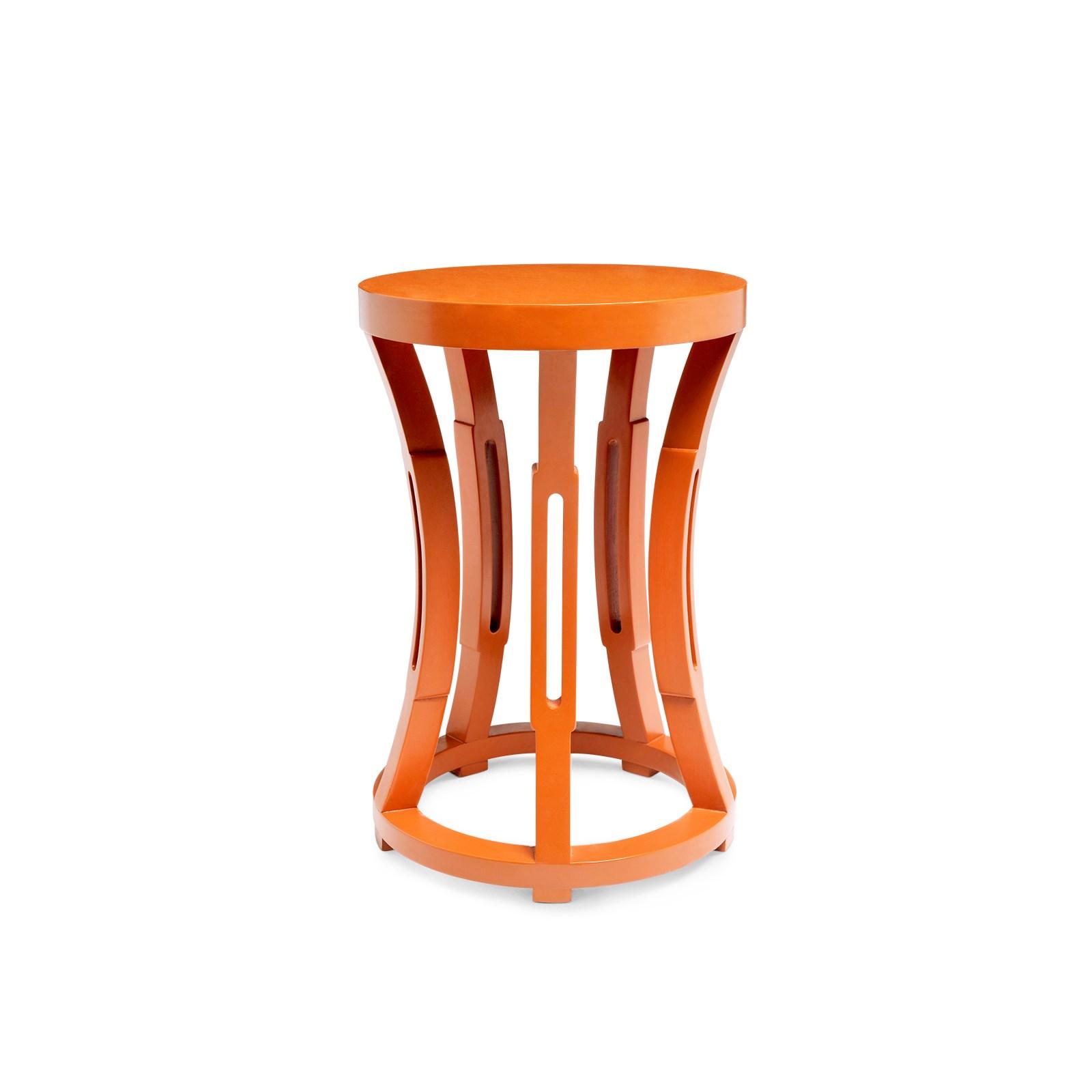 hourglass stoolside table orange  bungalow  -