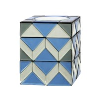 Iris Stacking Box, Blue, Gray