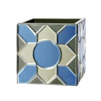 Iris Cachepot, Blue, Gray