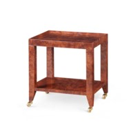 Isadora Tea Table, Burl Walnut