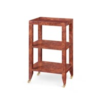 Isadora Side Table, Burl Walnut